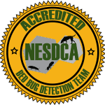 NYC NESDCA certified bed bug dog