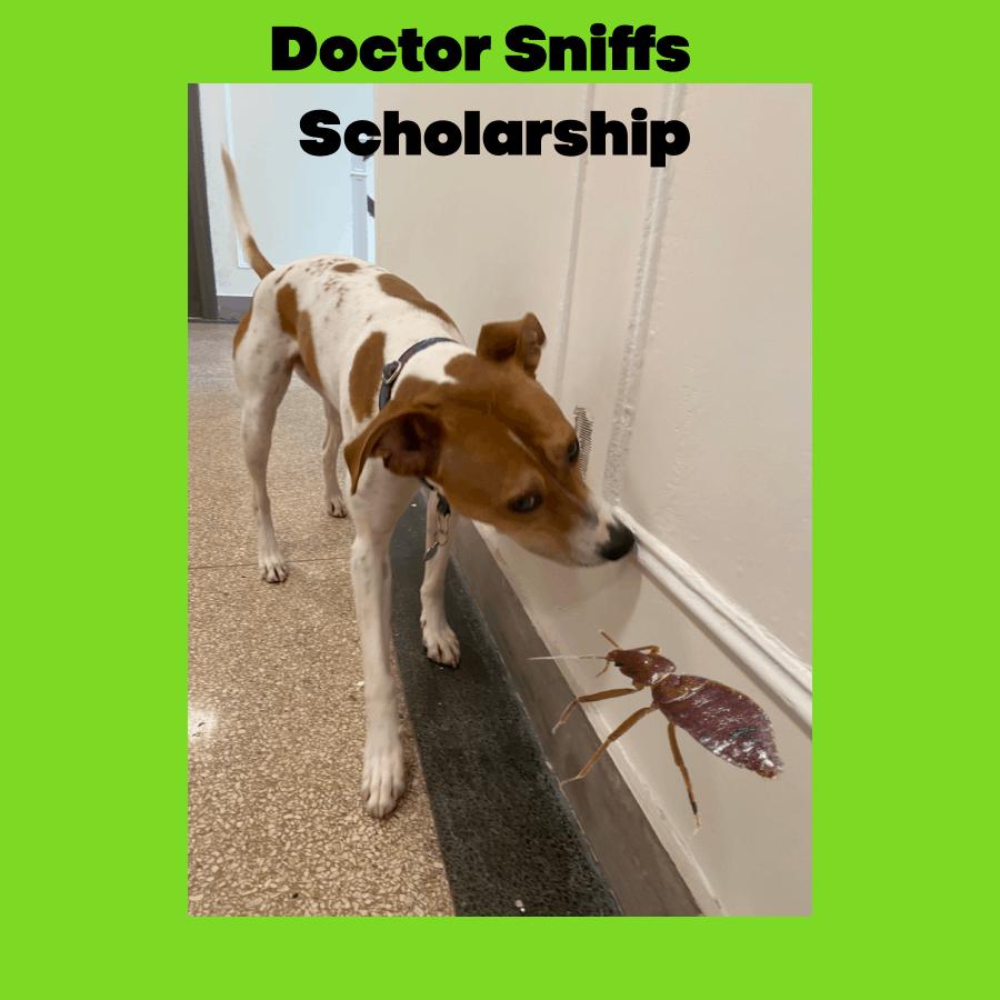 Doctor Sniffs Bed Bug Dog Scholarship Fund